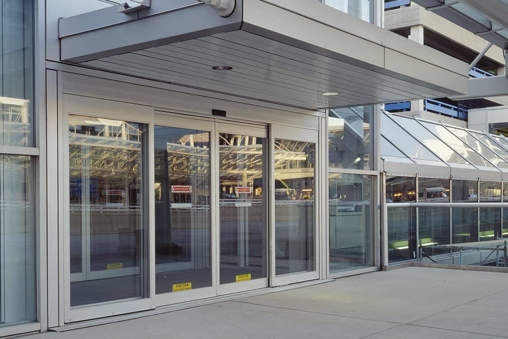 Automatic Glass Aluminium Sliding Doors Canuck Door Systems