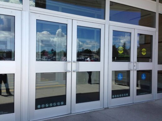 glass aluminum doors