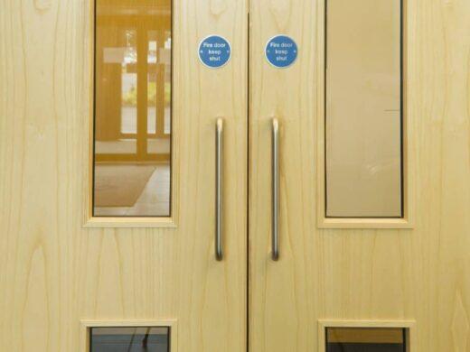 Laminated wood doors