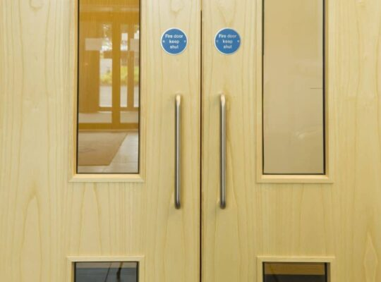 Laminated wood doors