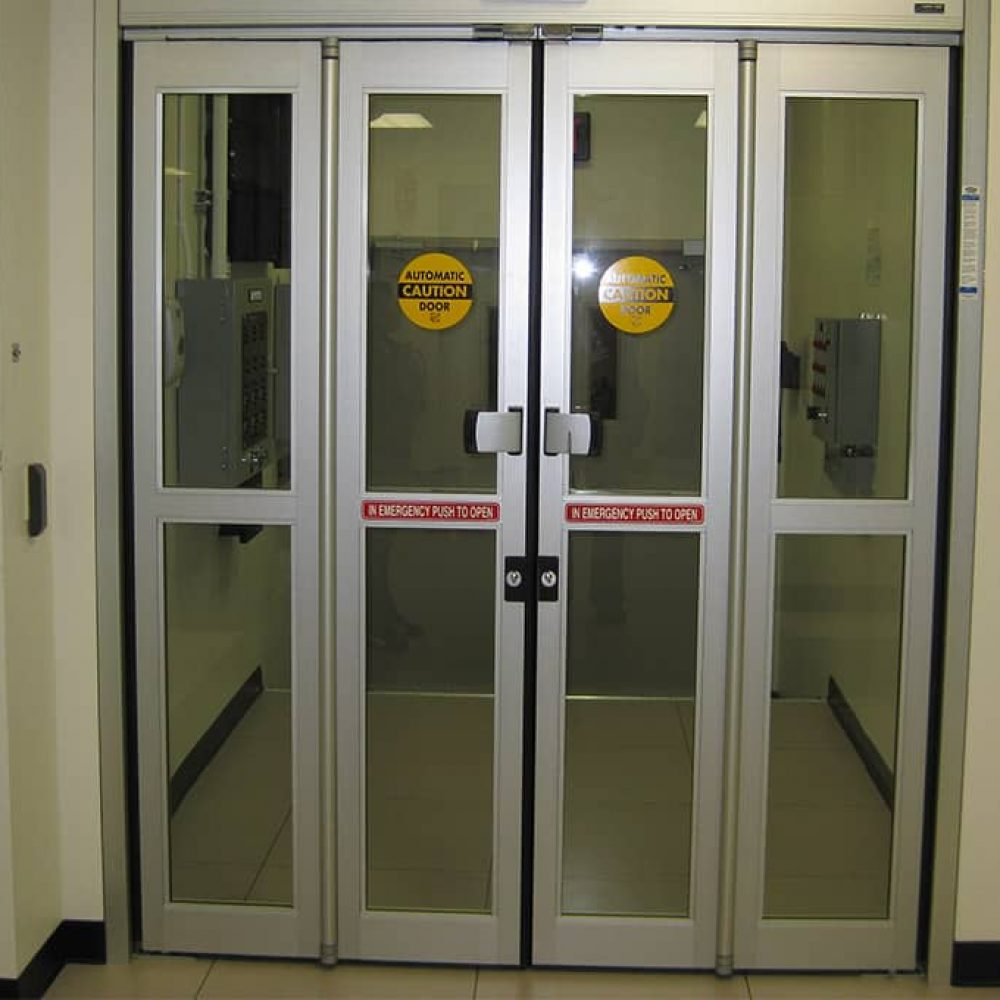 Glass Aluminium Automatic Folding Doors Canuck Door Systems