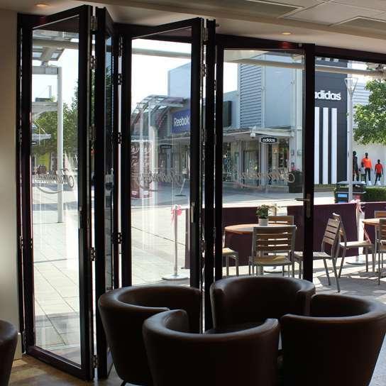 Manual Glass Aluminum Bi Folding Doors