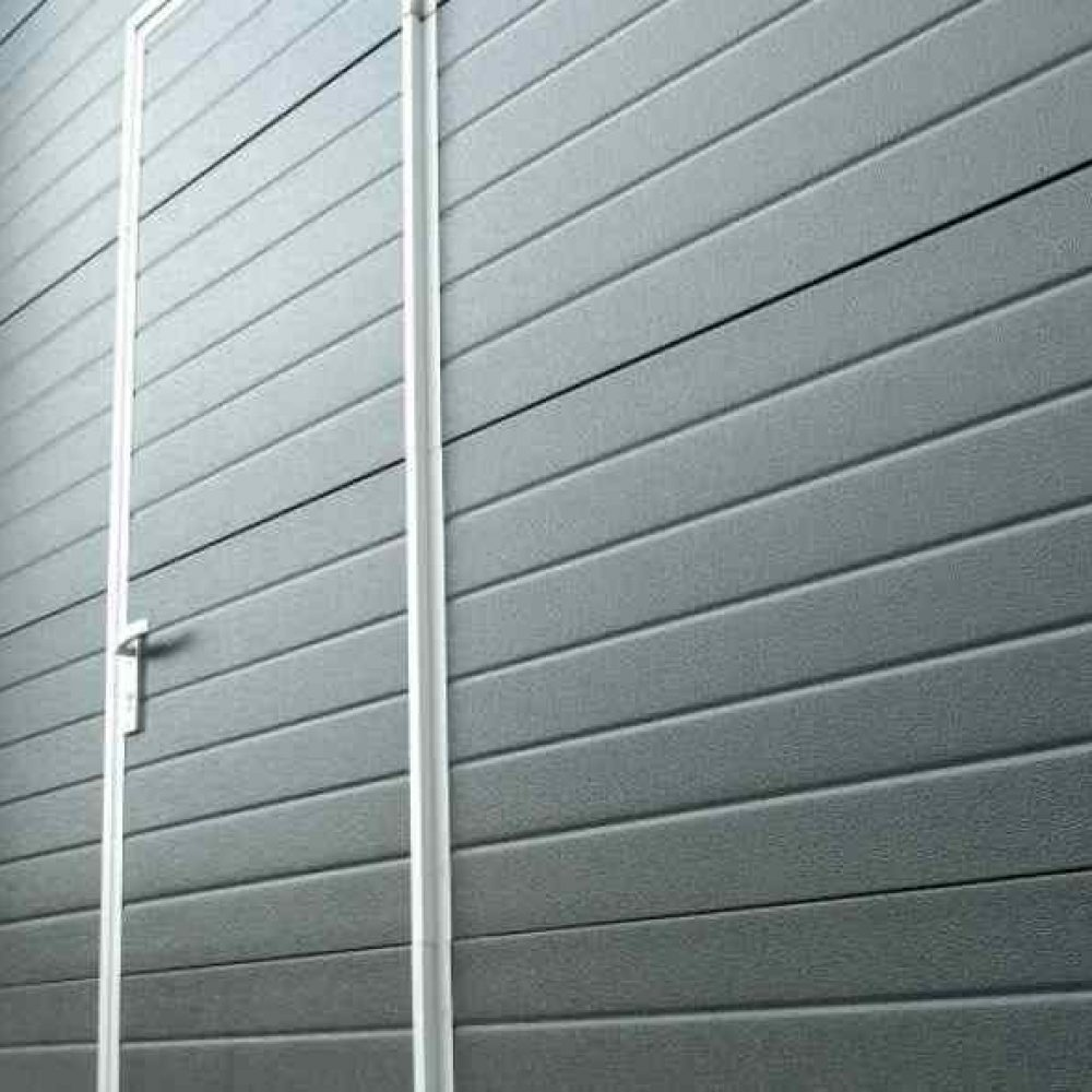 Insulated Overhead Sectional Doors With Entrance