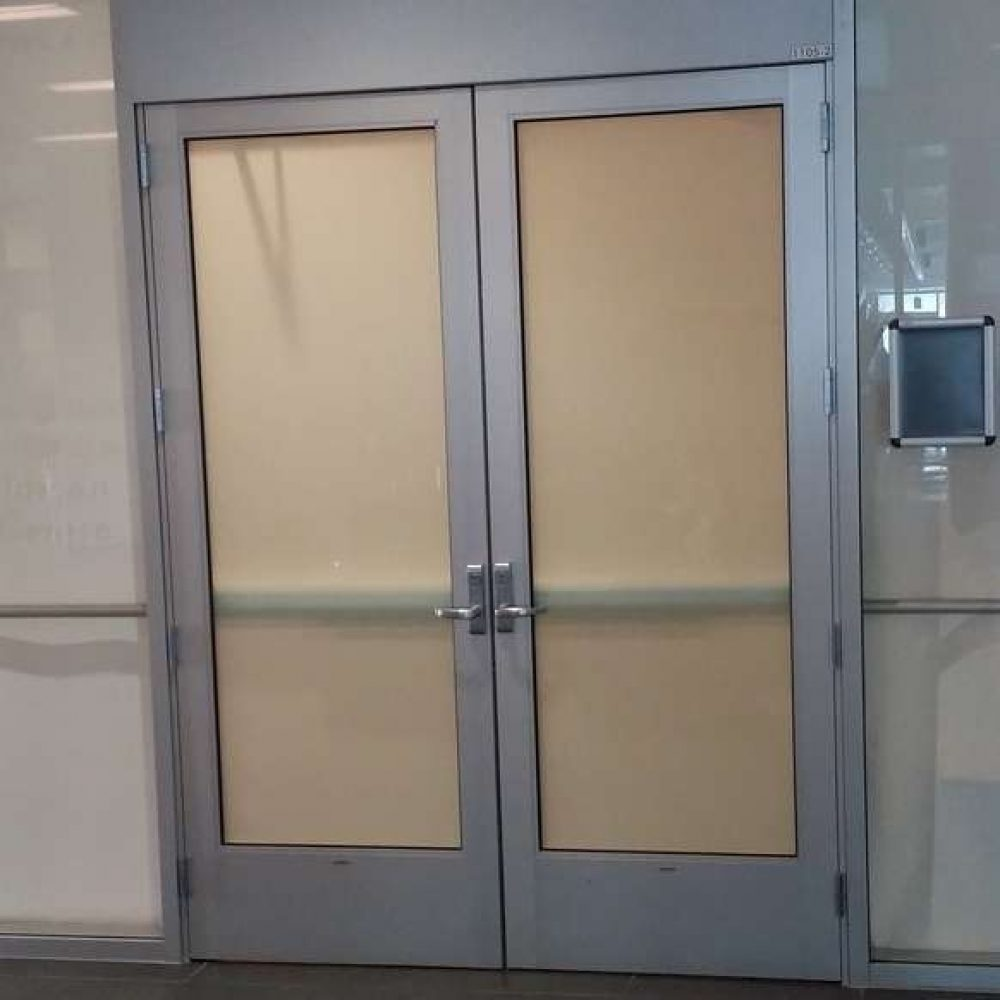 Glass Aluminum Swinging Interior Door