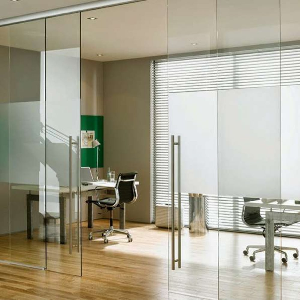 Frameless Glass Sliding Interior Doors