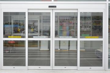 Automatic Glass Aluminum Sliding Doors