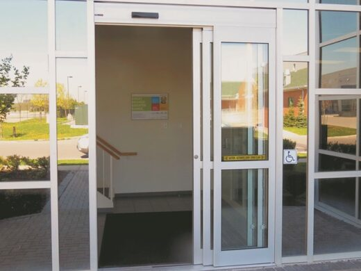 Automatic Glass Aluminum Telescopic Doors