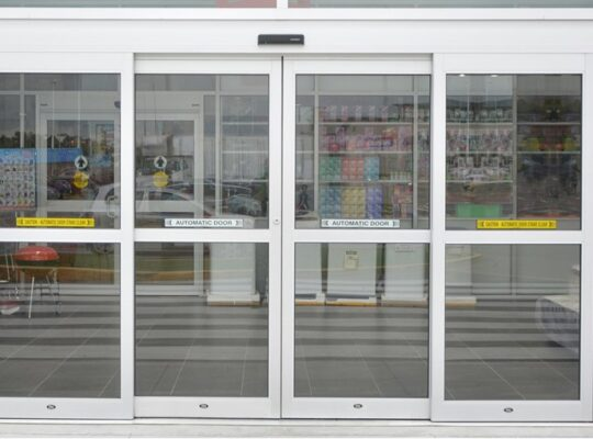 Automatic Glass Aluminum Sliding Doors