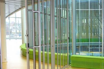 Glass Aluminum Folding Security Grilles