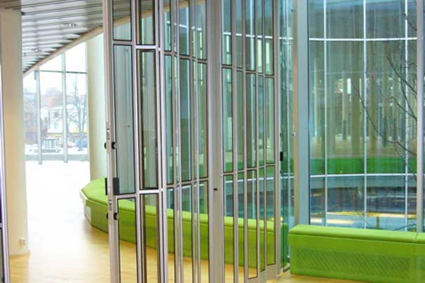 Glass Aluminum Folding Security Grilles