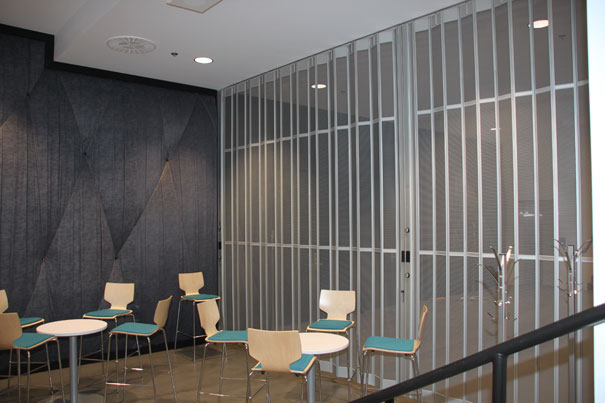 Perforated Steel Folding Security Grilles